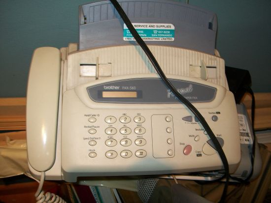 fax machine not working
