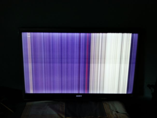 Replaced T-con board and now getting vertical lines
