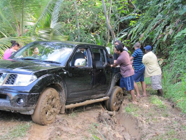 stuck in mud how to get out