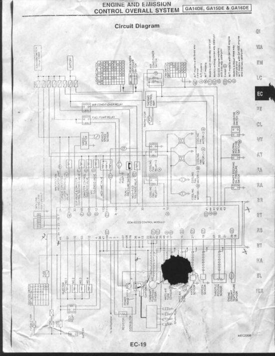 help looking for ga15de wiring diagram trinituner com rh trinituner com Nissan Sunny nissan ga15 engine wiring diagram