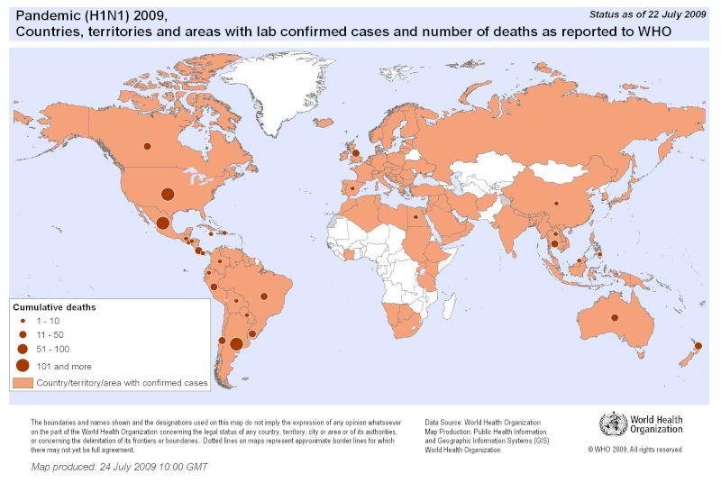 Map Of Uk Overseas Territories.Who Influenza A H1n1 Updates Global Flu Pandemic Declared Page