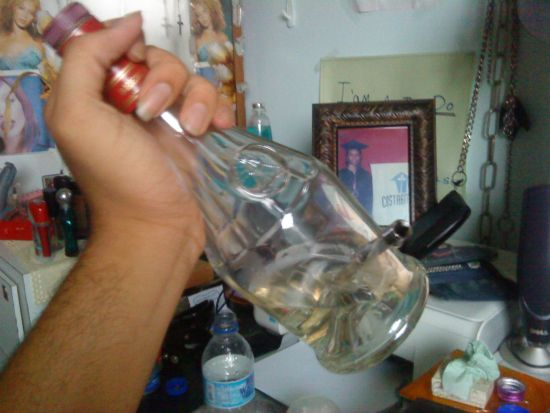 Glass Bottle Bong http://www.marijuana.com/threads/my-first-glass-bottle-bong.245235/